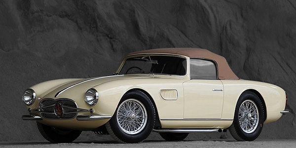 3 million $ for a Maserati 150 GT Spider fitting Borrani wire wheels